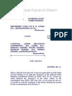 Reformist Union of R. B. Liner, Inc. vs. NLRC, G. R. No. 120482, Jan. 27, 1997, 266 SCRA 713
