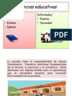 Agencias educativas Presentación de pedagogía primer cuatrimestre