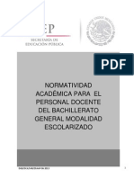 3.Normatividad Académica para el personal docente de bachillerato