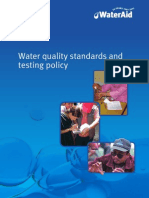 Water Quality Standards Testing Policy