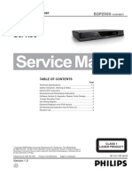 Philips Bdp2500 Service manual