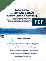 Tata Cara Revisi Anggaran Tahun 2014