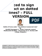 Forced to Sign Contract on Dotted Lines- Battle of Forms Under UCC - FULL VERSION