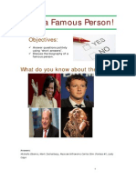 A2, Lesson 1-Meet a Famous Person