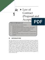 Topic1LawofContractProposalandAcceptance