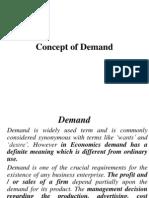 Concept of Demand