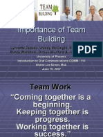 Importance of Team Building 6.19.07