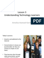 Lesson 3 Understanding Technology Learners