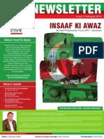 "Newsletter ""Insaf Ki Awaz"" 3rd Edition - February 2014"