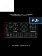 Prodigious Synthesizer Operation Manual