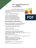 ORACIÓN PARA EL DIA 8 Marzo dia DE LA MUJER 2014