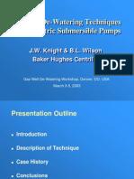 6 - Centrilift --- De-Watering With ESP's