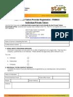 Form a - Individual Tutors Registration Form
