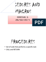 Procedures and Macros