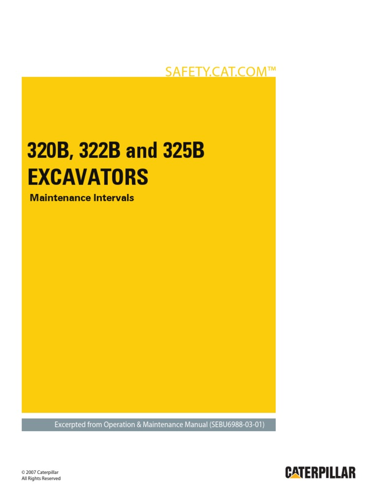 320B, 322B and 325B Excavators-Maintenance Intervals   Battery  (Electricity)   Air Conditioning