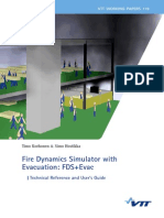 Fire Dynamics Simulator With Evacuation Vtt