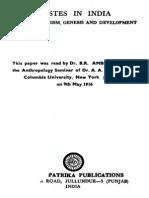 Dr. B. R. Ambedkar Castes in India Their Mechanism, Genesis and Development 1916