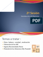 2ª sesión - Dieta BVM -  Pirámide