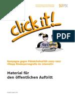 Material zu Stopp-Kinderpornografie Kampagne