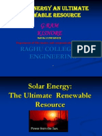 Solar Energy--The Ultimate Renewable Resource