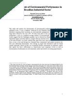 Determinantes Do Investimento Ambiental Na Industria Brasileira