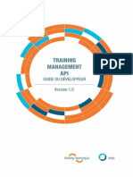 Guide Du Développeur - Training Management API 1.0