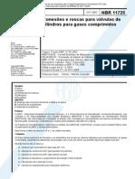 NBR 11725 PB 588 - Conexoes e Roscas Para Valvulas de Cilindros Para Gases Comprimidos