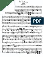 Schubert - Hoffnung, Die (No.2) (Schiller), Op.87, No.2