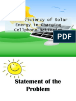 The Efficiency of Solar Energy in Charging Cellphone