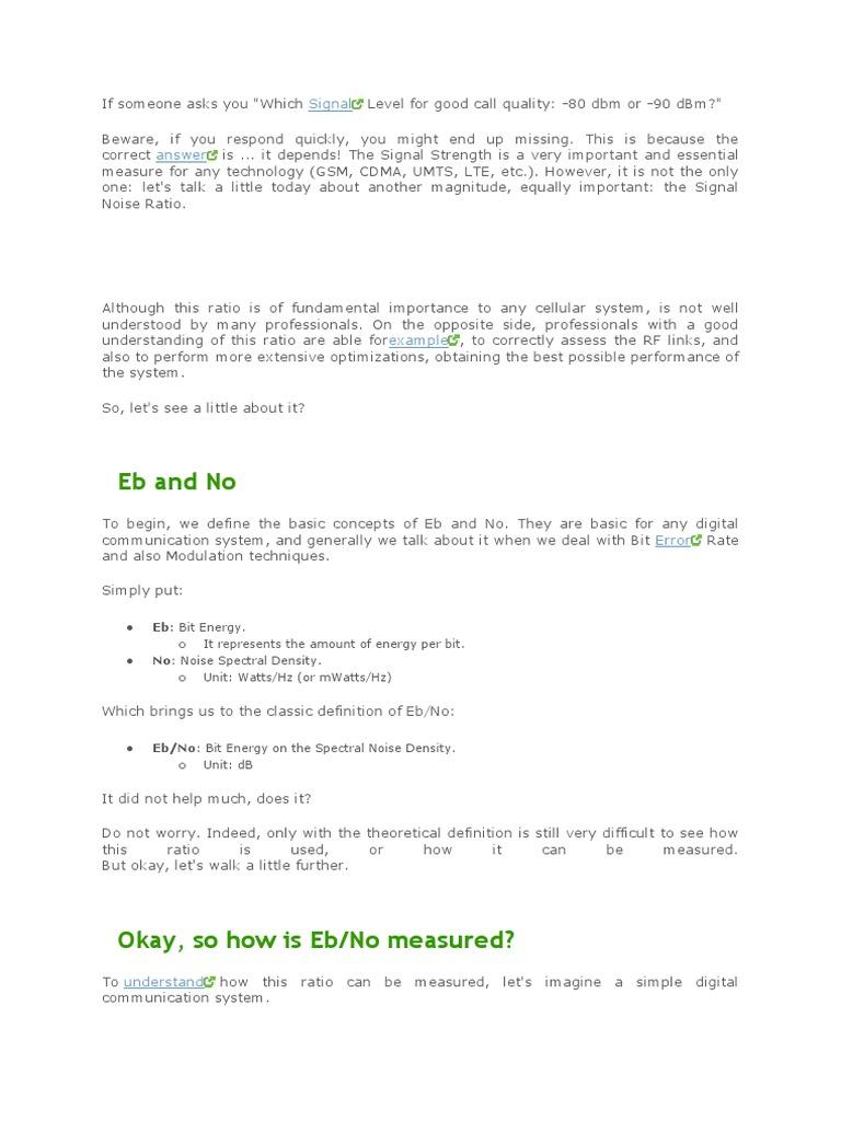 Ecno | Code Division Multiple Access | Modulation
