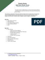 Agile Scrum Master Course Outline