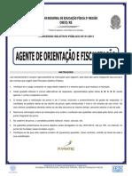 AGENTE DE ORIENTAÇÃO E FISCALIZAÇÃO