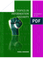Advance Topics In Information Security - Assignment No. 04