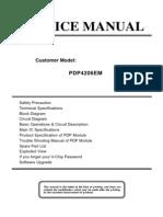 PDP4206EM Service Manual