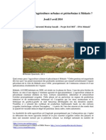 prospective agri urbaine meknes