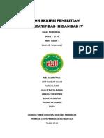 Contoh Skripsi Penelitian Kuantitatif Bab III Dan Bab IV