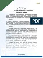 Lineamientos de Seminario 2014 Seguridad Alimentaria