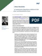 New Capitalization Regulations-Additional Safe Harbor and Rehabilitation Rules