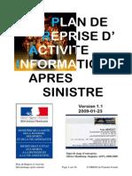 PRAI - Plan de Reprise d Activite Informatique - DRDJS 25