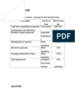 Sample Problems-work Sampling