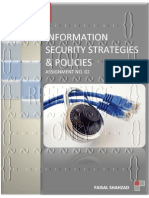Information Security Strategies And Policies - Assignment No. 02