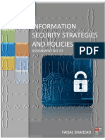 Information Security Strategies And Policies - Assignment No. 03
