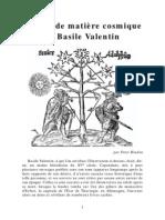 Bindon, Peter - L'Arbre de Matière Cosmique de Basile Valentin