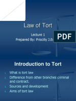Lecture 1- Intro to Tort
