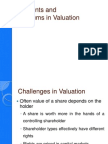 Valuing Control and Liquidity