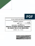 TM 9-1750H Hydraulic Traversing Mechanism (Logansport) for Medium Tank M3 and Modifications 1943