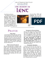 Our Lady of Perpetual Help Church in Ellicott City, MD Our Lenten Booklet of activities for Lent 2014