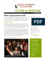 Arts Culture Heritage Newsletter - Fall 2013 / Winter 2014