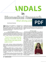 Scandals in Biomedical Research