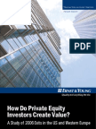 How Do Private Equity Investors Create Value - 2006 - Ernst and Young